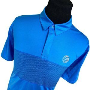 Lands End Blue AT&T Tailored Fit Golf Polo XL